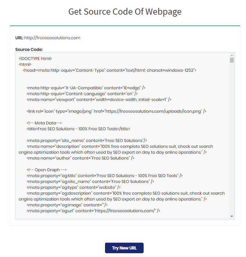 Get Source Code Of Webpage