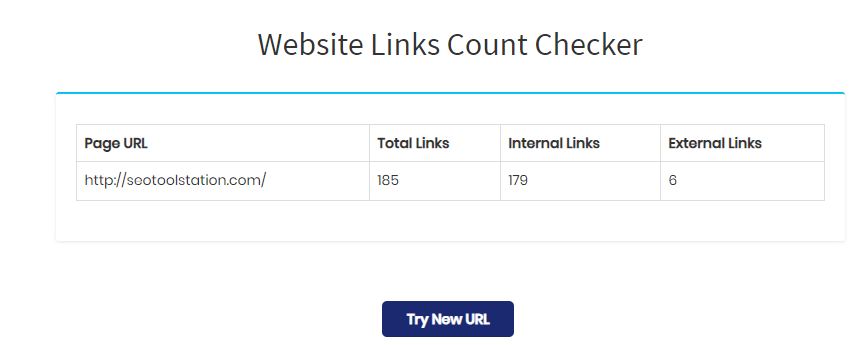 Website Links Count
